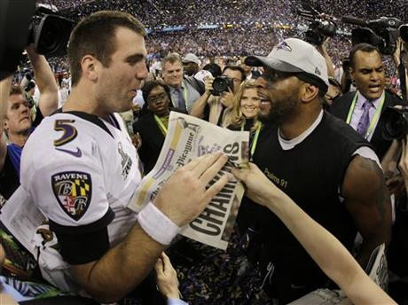Joe Flacco, Ray Lewis