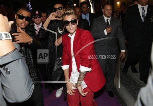 """inVision Eric Charbonneau/Invision/AP a ENT CPAENT CA USA INVL The World Premiere of Open Road's """"Justin Bieber's Believe"""""""