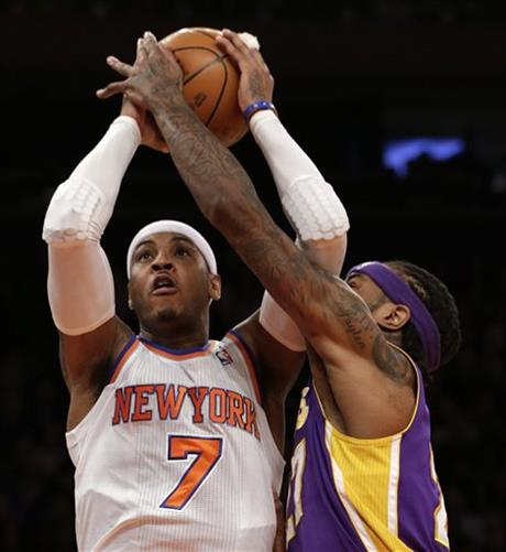 Jordan Hill, Carmelo Anthony
