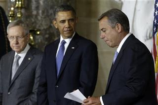 Barack Obama, Harry Reid, John Boehner