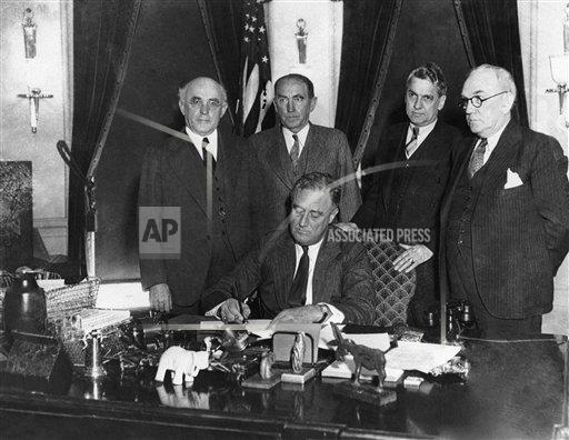 Watchf Associated Press Domestic News  Dist. of Col United States APHS128830 President Roosevelt