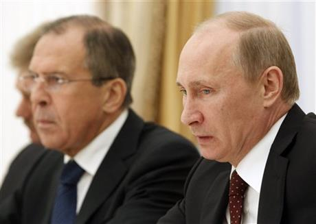 Vladimir Putin, Sergey Lavrov 