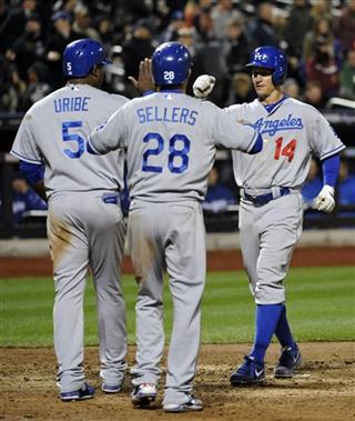 Mark Ellis, Juan Uribe, Justin Sellers