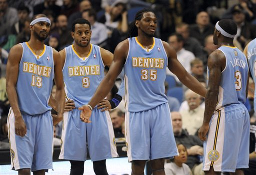 Corey Brewer, Andre Iguodala, Kenneth Faried, Ty Lawson