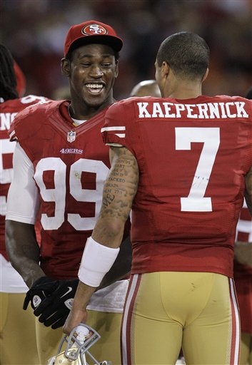 Aldon Smith, Colin Kaepernick