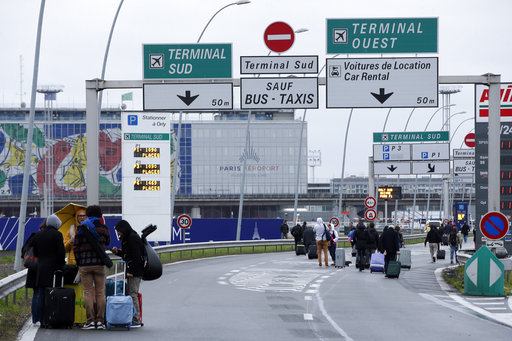 French police: man tried to seize weapon at airport, killed