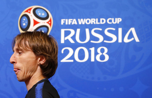 0cc7d1b61 The Latest  Modric riled by non-World Cup questions. Croatia captain Luka  ...
