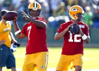 Brett Hundley, Aaron Rodgers