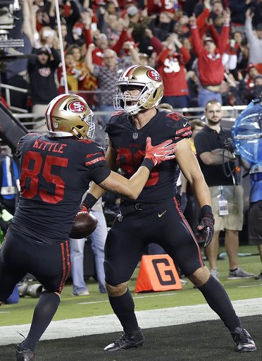 George Kittle, Garrett Celek