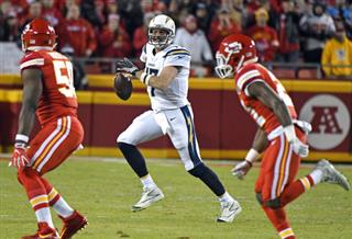 Philip Rivers, Justin Houston, Eric Murray