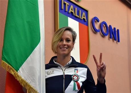 Italy OLY Rio Flagbearer