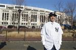 New York Yankees new baseball manager Aaron Boone poses outside Yankee Stadium after an introductory news conference Wednesday, Dec. 6, 2017, at Yankee stadium in New York.  (AP Photo/Mary Altaffer)