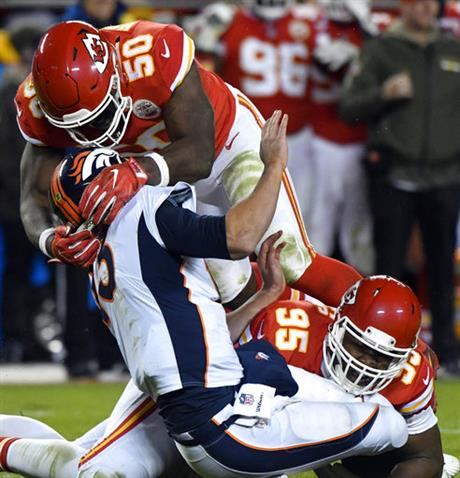 Trevor Siemian, Chris Jones, Justin Houston