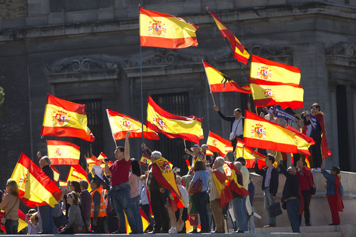 The Latest: Europe officials reject Catalonia's indepen