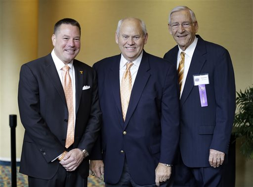 Butch Jones, Phil Fulmer, Doug Dickey
