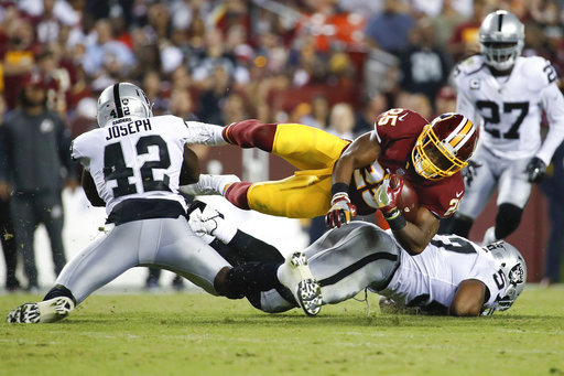 Raiders Redskins Football