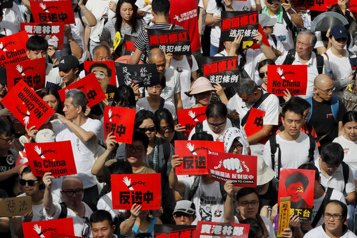 Huge extradition law protest fills Hong Kong streets | AccessWDUN com