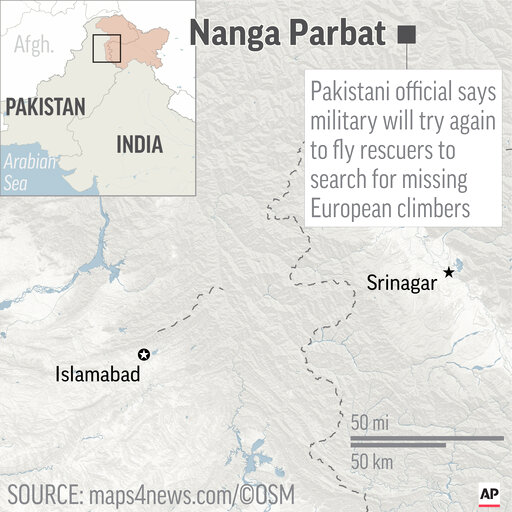 Pakistani Military Helicopters Search For Missing Climbers