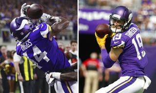 Vikings Diggs and Thielen Football