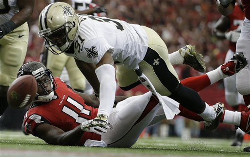 APTOPIX Saints Falcons Football