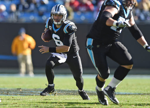 The Latest  Panthers new QB Heinicke leaves with arm in ... dec9c8306