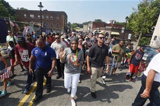 """The NJ chapter of the Council on American-Islamic Relations presented Olympic Bronze Medalist Ibtihaj Muhammad with the """"Breaking Barriers Award"""" at a parade held in her honor in Maplewood."""