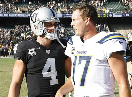 Derek Carr, Philip Rivers