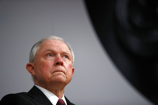 Attorney General Jeff Sessions pauses before speaking at the Global Forum on Asset Recovery (GFAR) at the International Finance Corporation in Washington, Monday, Dec. 4, 2017, about anti-corruption efforts of the Trump administration and other topics. (AP Photo/Carolyn Kaster)