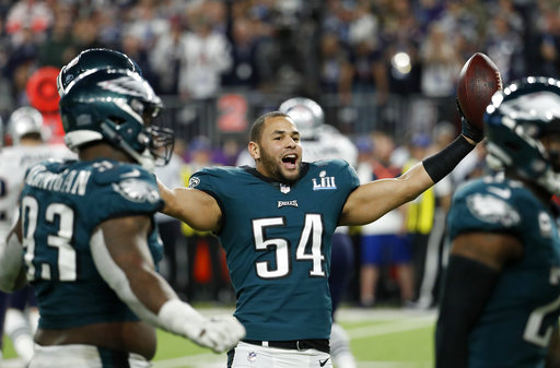 The Latest  Defense helps Eagles win 1 48afe7791