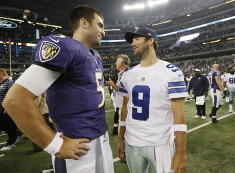 Joe Flacco, Tony Romo