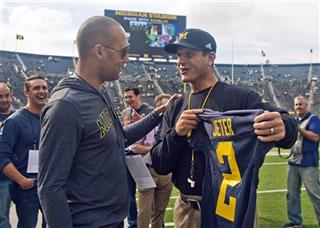 Derek Jeter, Jim Harbaugh