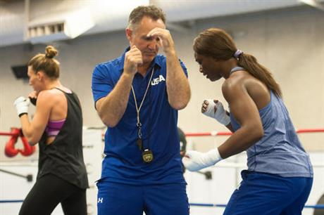 Billy and Claressa Olympics Boxing