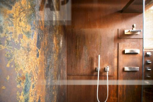 Bathroom With Corten Steel Wall Cladding Buy Photos Ap Images