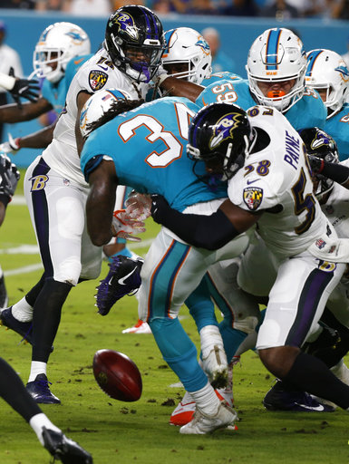 Ravens Dolphins Football