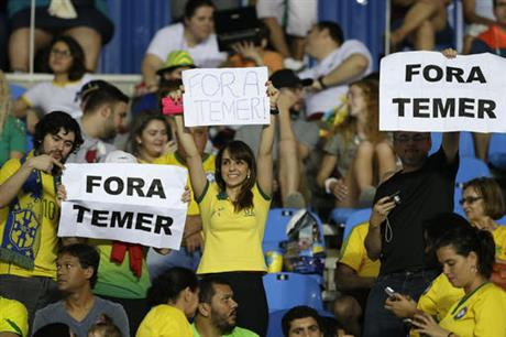 Rio Olympics Stadium Protests