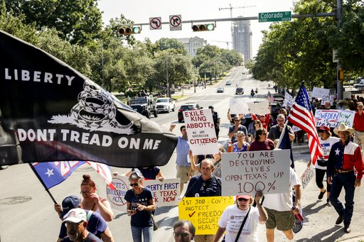 The Latest: Texas GOP protests Republican governor's or...
