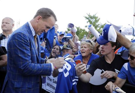 Colts Manning Statue Football