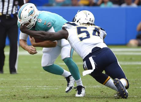 Dolphins Chargers Football