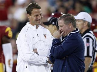 Lane Kiffin, Brian Kelly