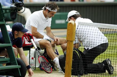 Federer Injured Tennis