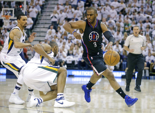 new concept d808c 2fea5 Paul scores 29, Clippers beat Jazz 98-93 to force Game 7