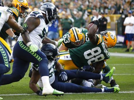 Seahawks Packers Football
