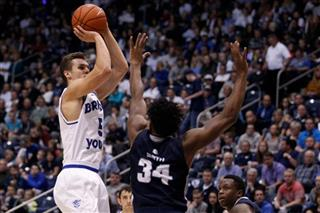 BYU Cougars take on Utah State Aggies in NCAA men's basketball 01