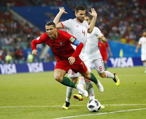 e2a5f0c6446 The Latest  2 from Ronaldo put Portugal up a goal at ha ...