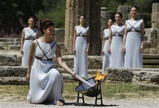 APTOPIX Greece Rio Olympics Flame Lighting