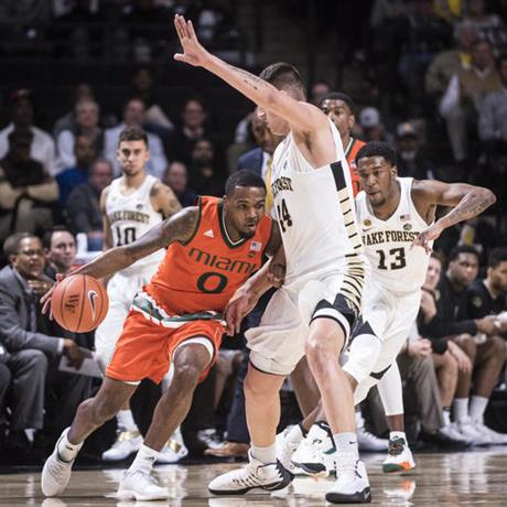 Miami Wake Forest Basketball