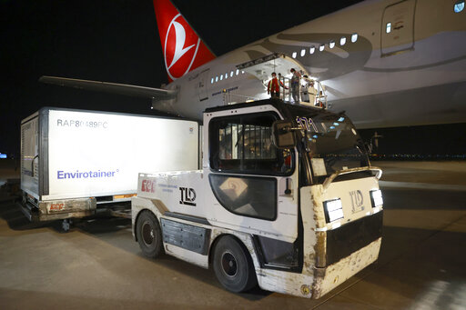 The Latest: Chinese vaccine shipment arrives in Turkey ...