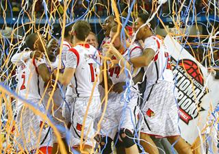 APTOPIX NCAA Final Four Michigan Louisville