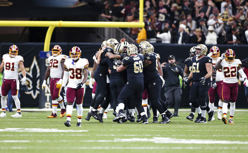 Redskins Saints Football