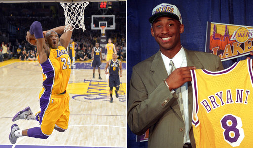 b5b27e09a97 Shooting for 2: Lakers retire Kobe Bryant's 8 and 24 jerseys